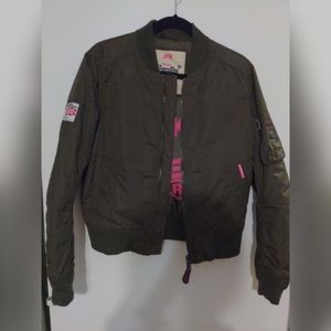 Superdry Jackets & Coats - SuperDry Olive green bomber jacket